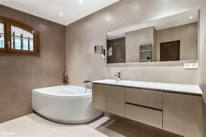 cuisine carrelage salle de bain beige et marron salle de With salle de bain blanche et marron