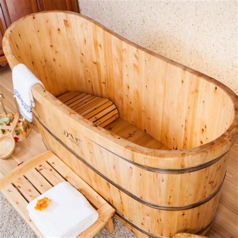 qualit 233 en bois 233 troite baignoire japonais baignoire de