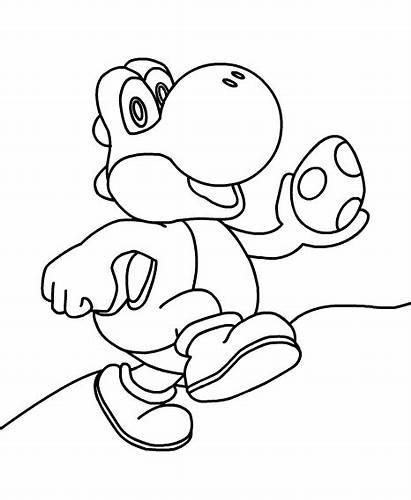 Yoshi Printables Mario Super Coloring Colors Jump