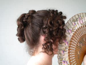 curly regency up do hair inspiration historical
