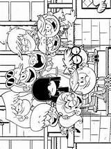 Loud Coloring Ausmalbilder Louds Willkommen Bei Den Fun Herrie Huize sketch template