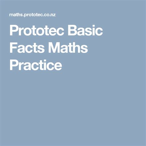 prototec basic facts maths practice educational apps