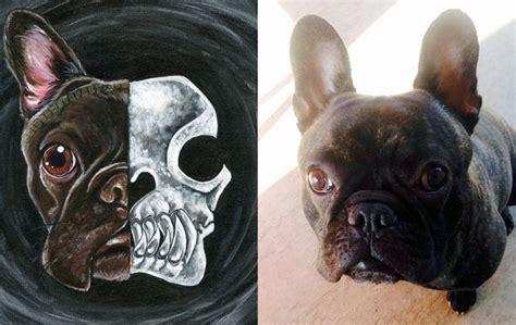 Custom French Bulldog Skull Painting By Sobeyondthis On Deviantart
