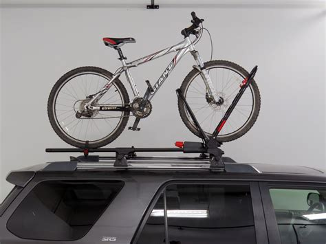 roof rack bike carrier yakima frontloader wheel mount bike carrier roof mount