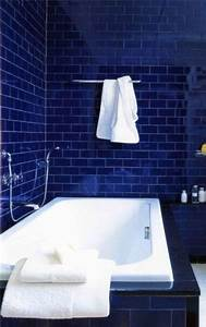 36 blue and white bathroom tile ideas and pictures for Bathroom tiles blue
