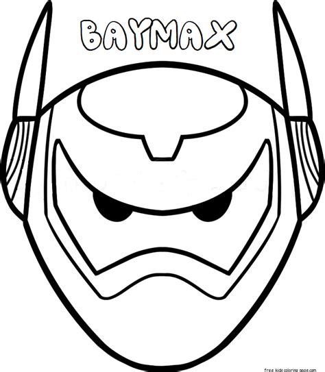 print  mask big hero  baymax armorfree printable