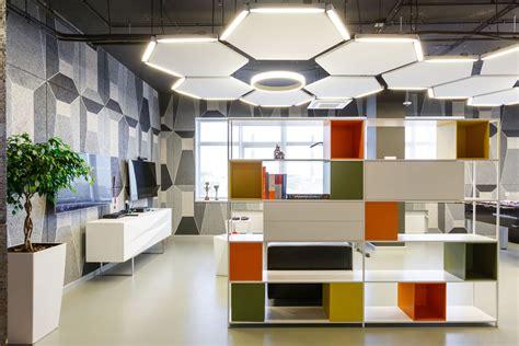 decoration bureau futuristic office design with unique exposed ceiling ideas