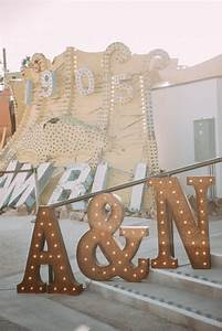 A Las Vegas Neon Museum Wedding Full of Quirk, Color, and