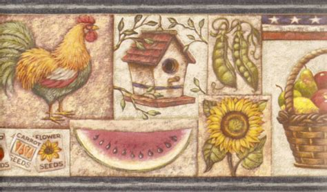 country kitchen border our great country patriot country kitchen rooster 2736
