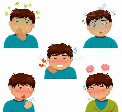 Symptoms Cartoon Person Vector Illness Nausea Influenza