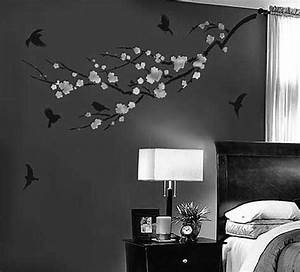Decorative Wall Painting Ideas For Bedroom bedroom white