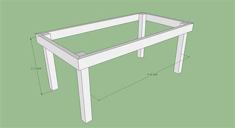 how to make desk legs tom voboril rustic farm table