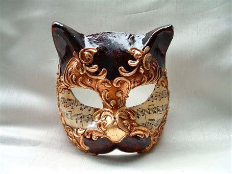 venetian cat mask cat brown gold venetian mask venetian masks 1001