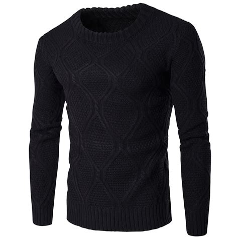 mens black sweater brand clothing sweater cotton sweater