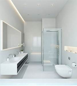 Three apartments with extra special lighting schemes for Carrelage adhesif salle de bain avec eclairage led pour miroir
