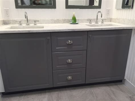 using ikea kitchen cabinets in bathroom new bath w ikea sektion cabinets image heavy 9573