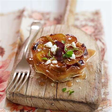 fig recipes fig goats cheese tarte tatin recipe woman and home