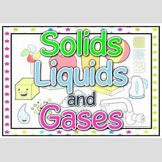 Solids, Liquids And Gases Display Pack  Ready Made