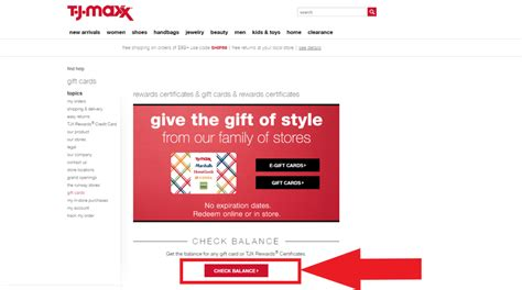 Maxx rewards credit card to earn points on all your purchases with the company. T.J. Maxx Gift Card Balance - GiftCardStars