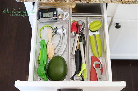 how to organize your kitchen utensils kitchen utensil organization a bowl of lemons 8785