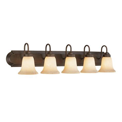 shop millennium lighting 5 light rubbed bronze standard