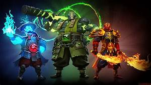 Video Game Dota 2 Heroes Storm Spirit Earth Spirit And ...