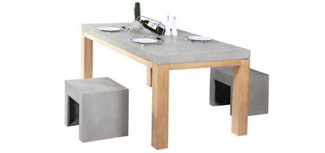 table basculante cuisine achat table de cuisine en béton et bois grisemon coin design