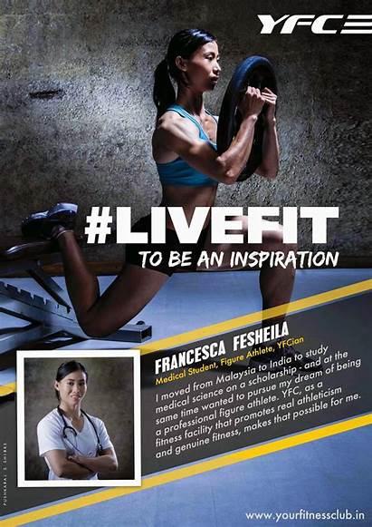 Fitness Gym Club Advertising Livefit Campaign Pushkaraj