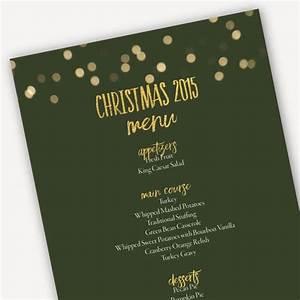 Christmas Flyer Template Word Printable Christmas 2019 Menu Template Green And Gold