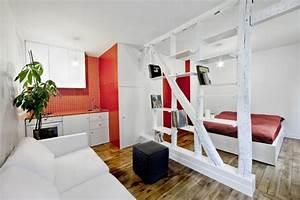 Wohn Schlafzimmer In Einem Raum : 30 kluge wohnideen f r kleine wohnung ~ Markanthonyermac.com Haus und Dekorationen