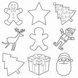 Christmas Collage Classroom Cut Outs Holiday Cute Schoolgirlstyle Door Collection Samples Display Create sketch template