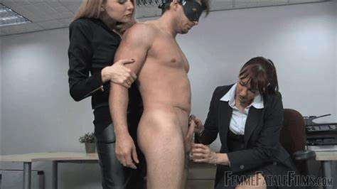 Granny Lesson Toy Fingering On The Office mistress