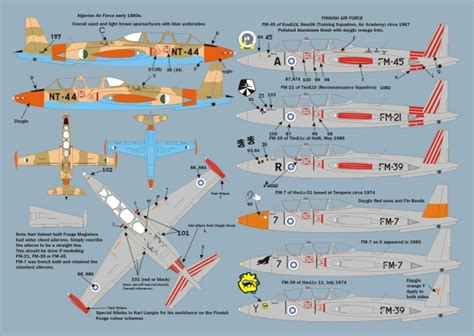 Max Decals Max7223 International Fouga Magister Selection