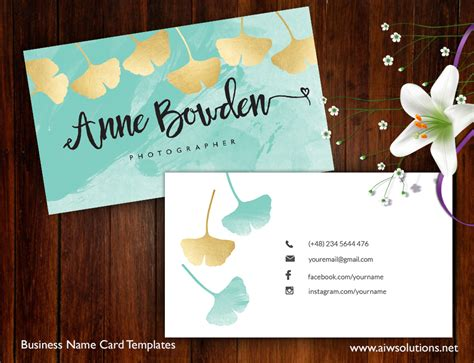 vistaprint business card layout premade business card template name card template