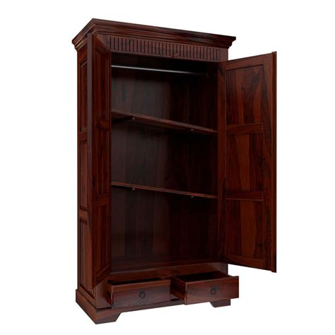 Large Wardrobe With Shelves by Marengo Large Rustic Solid Wood Wardrobe Armoire With