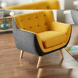 Petit Fauteuil Jaune : fauteuil jaune et noir serti propos par vente unique photos de canapes jaunes ~ Teatrodelosmanantiales.com Idées de Décoration