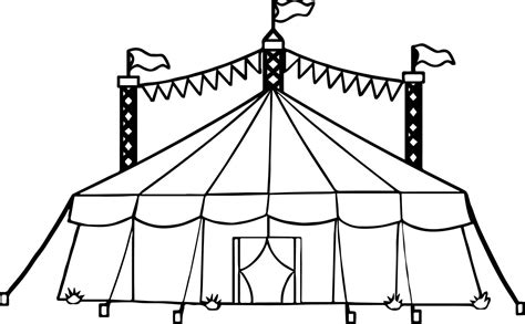 Circustent Kleurplaat by Circus Tent Coloring Page