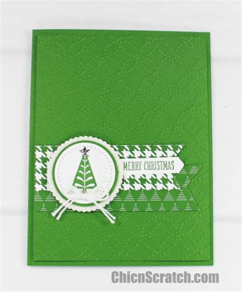 merry mistletoe christmas tree card chic n scratch