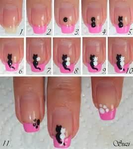 Cute cats in love diy nail design alldaychic