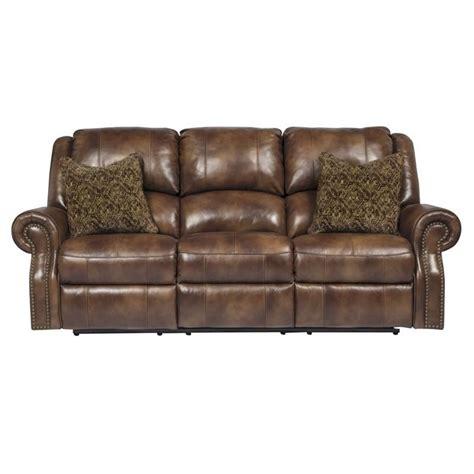 overly power reclining sofa ashley walworth leather power reclining sofa in auburn