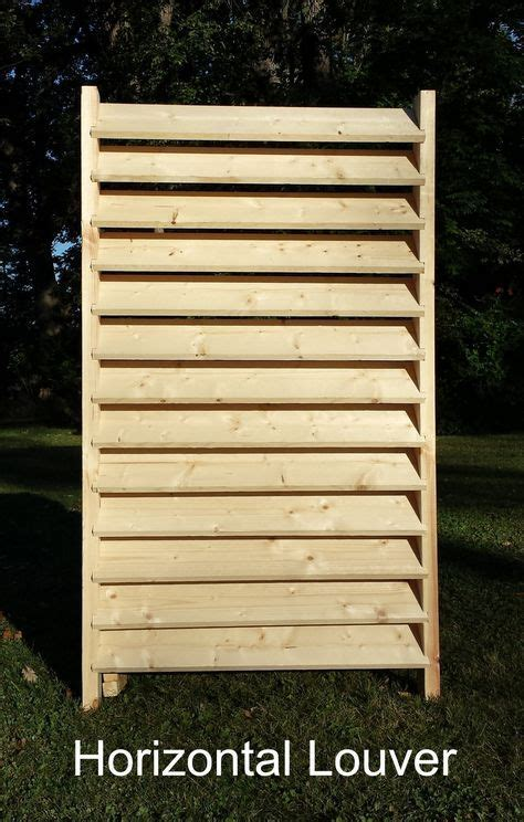 Backyard Trolines - louver and basketweave fence diy 2x4 kits vertical