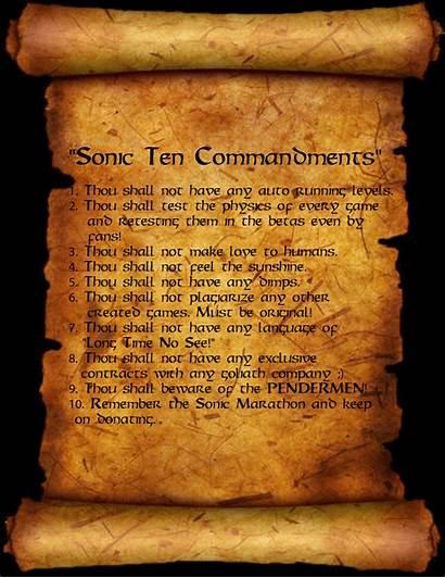 Commandments Ten Wallpapers Sonic Deviantart Cave Obey