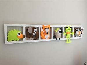 Decoration Murale Chambre Enfant : decoration murale chambre enfant theme la ferme rouge vert brun cadeau naissance ~ Teatrodelosmanantiales.com Idées de Décoration