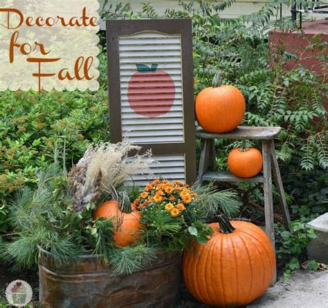 25+ Best Ideas About Outdoor Fall Decorations On Pinterest