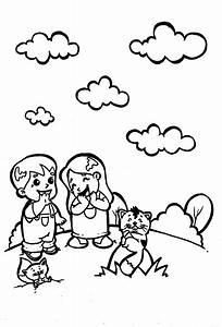 Dibujo colorear cats06 Dibujo de Niños para imprimir