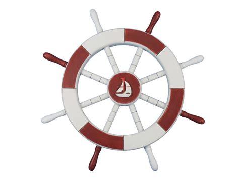 sailboat wheel wall decor buy and white decorative ship wheel with sailboat 18