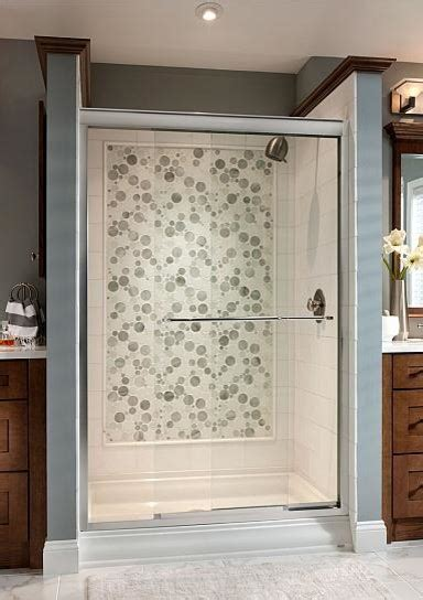 Glass Bubble Mosaic shower   Eclectic   Bathroom   New