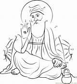 Guru Nanak Ji Dot Worksheet Sketch Dots Sikhism Connect Turban Template Printable Bhagawan Coloring Pages Pdf sketch template