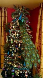 peacock christmas decorations on pinterest peacock christmas tree peacock christmas and