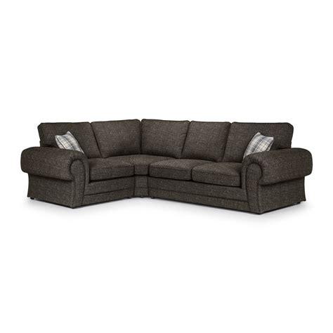 wilcot right facing check corner sofa